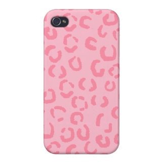 Pink Leopard Print Pattern. iPhone 4 Covers