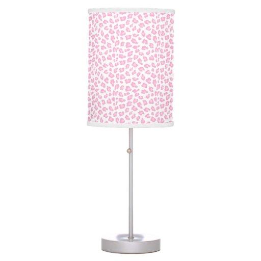 Pink Leopard Print Pattern Nursery Lamp
