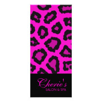 Pink Leopard Print Rack Card