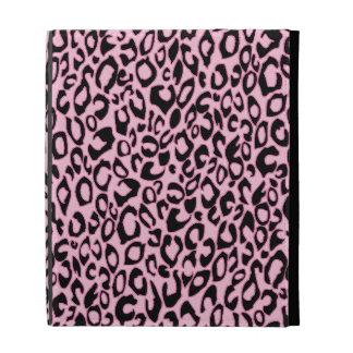 Pink Leopard Print Ribbon iPad folio case