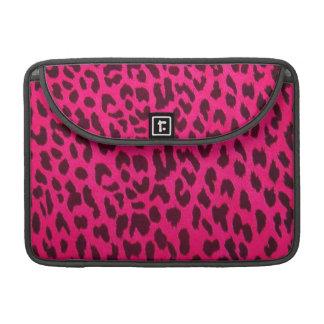 Pink Leopard Print Rickshaw Flap Sleeve for MacBoo MacBook Pro Sleeve