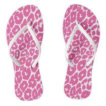 Pink Leopard Print Spot Changer Flip Flops
