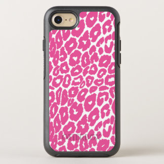 Pink Leopard Print Spot Changer OtterBox Symmetry iPhone 7 Case