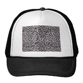 pink leopard print trucker hat