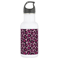 Pink Leopard Print Water Bottle