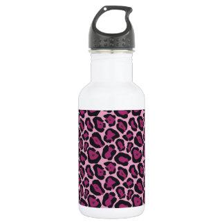 Pink Leopard Print Water Bottle