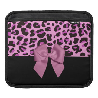 Pink Leopard Print with Bow iPad Sleeve