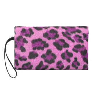 Pink Leopard Print Wristlet
