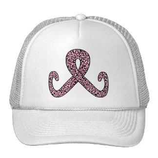 Pink Leopard Ribbon Apparel Hat