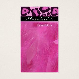 Pink Leopard Salon & Spa Massage Business Card