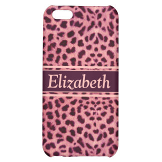 Pink Leopard Skin Pattern Cover For iPhone 5C