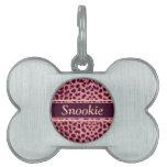 Pink Leopard Skin Pattern Personalize Pet ID Tags