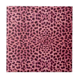 Pink Leopard Skin Pattern Tile
