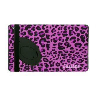 Pink Leopard Spots iPad Case