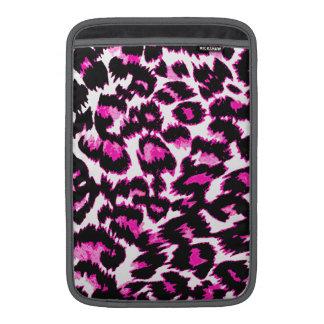Pink Leopard Spots MacBook Air Sleeves