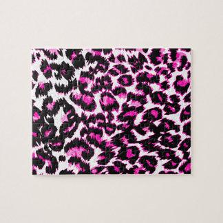 Pink Leopard Spots Jigsaw Puzzle