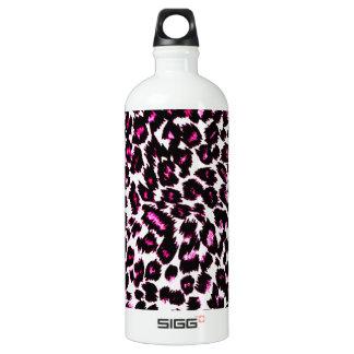 Pink Leopard Spots Pattern Aluminum Water Bottle