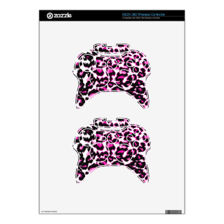 Pink Leopard Spots Xbox 360 Controller Skins