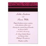 """Pink Leopard Wedding Invitations 5"""" X 7"""" Invitation Card"""