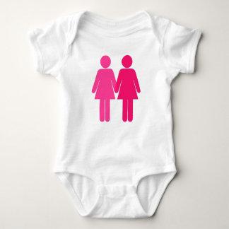 Pink Lesbians Baby Bodysuit
