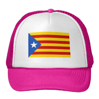 "PINK ""L'Estelada Blava"" Catalan Independence Flag Trucker Hat"