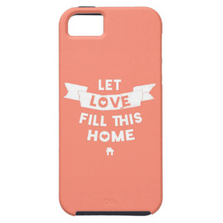Pink Let Love Fill This Home Old Banner iPhone SE/5/5s Case