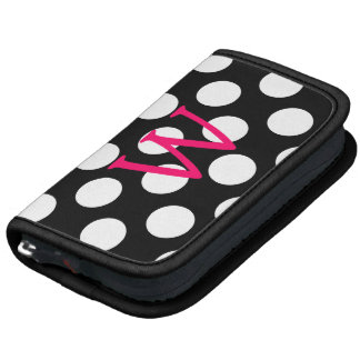 Pink Letter W on Polka Dots Planner
