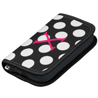 Pink Letter X on Polka Dots Planners