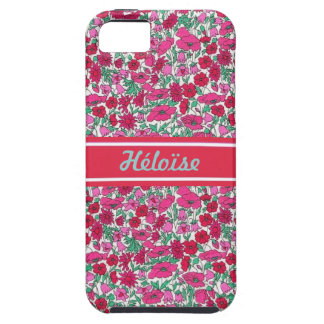 Pink Liberty flower First name personnalisable iPhone SE/5/5s Case