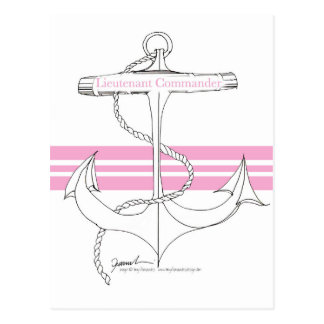 pink lieutenant commander, tony fernandes postcard