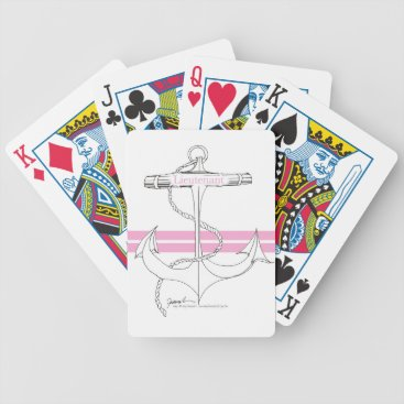 Beach Themed pink lieutenant, tony fernandes bicycle playing cards