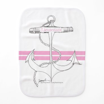 Beach Themed pink lieutenant, tony fernandes burp cloth