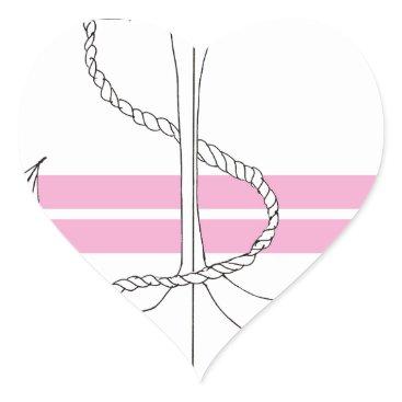 Beach Themed pink lieutenant, tony fernandes heart sticker