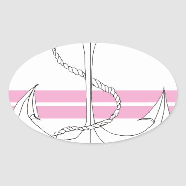 Beach Themed pink lieutenant, tony fernandes oval sticker