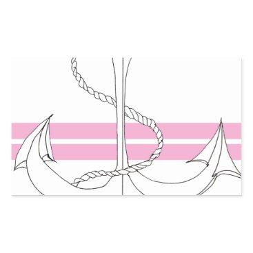Beach Themed pink lieutenant, tony fernandes rectangular sticker