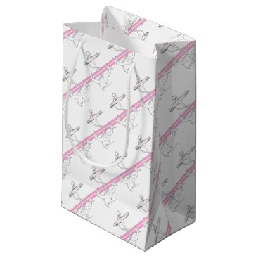 Beach Themed pink lieutenant, tony fernandes small gift bag