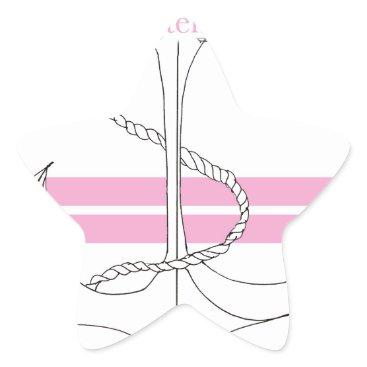 Beach Themed pink lieutenant, tony fernandes star sticker