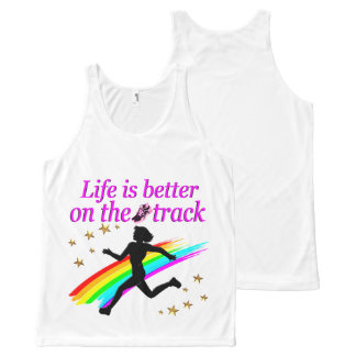 PINK LIFE IS BETTER ON THE TRACK DESIGN All-Over-Print TANK TOP
