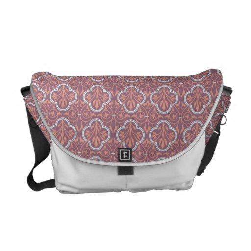 Pink & Light Green Clover Pattern Commuter Bag
