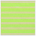 [ Thumbnail: Pink & Light Green Lined Pattern Fabric ]