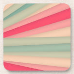 Pink Light Green Pillow Drink Coasters