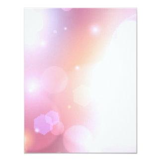 Pink Light Pixel Bokeh Card