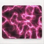 pink lightning background mouse mat