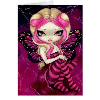 """""""Pink Lightning"""" Greeting Card"""