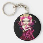 """Pink Lightning"" Keychain"