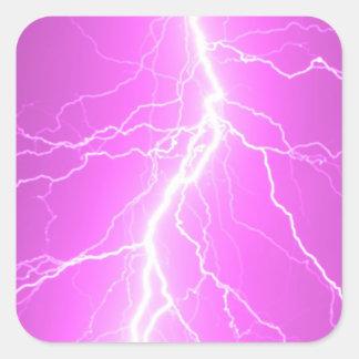 Pink Lightning Strike - Sticker