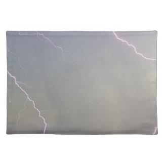 Pink Lightning Strikes Cloth Placemat