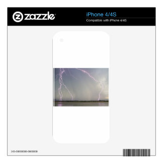 Pink Lightning Strikes Skins For The iPhone 4