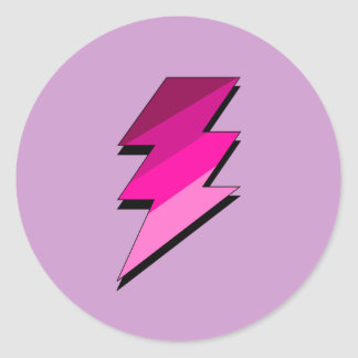 Pink Lightning Thunder Bolt Sticker