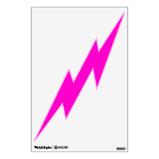 Pink Lightning Wall Decal